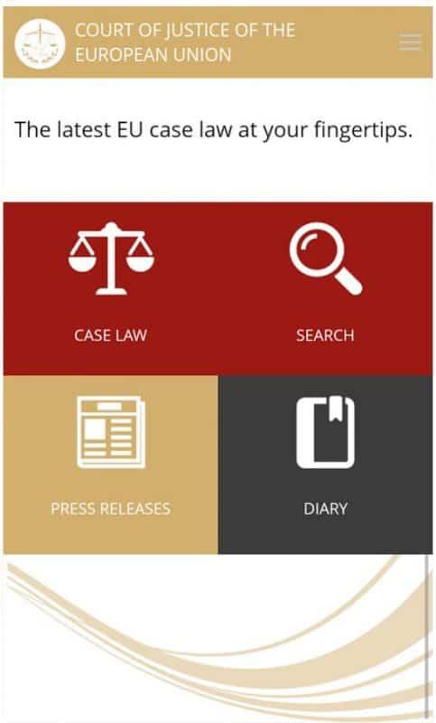 CJEU mobile app CVRIA