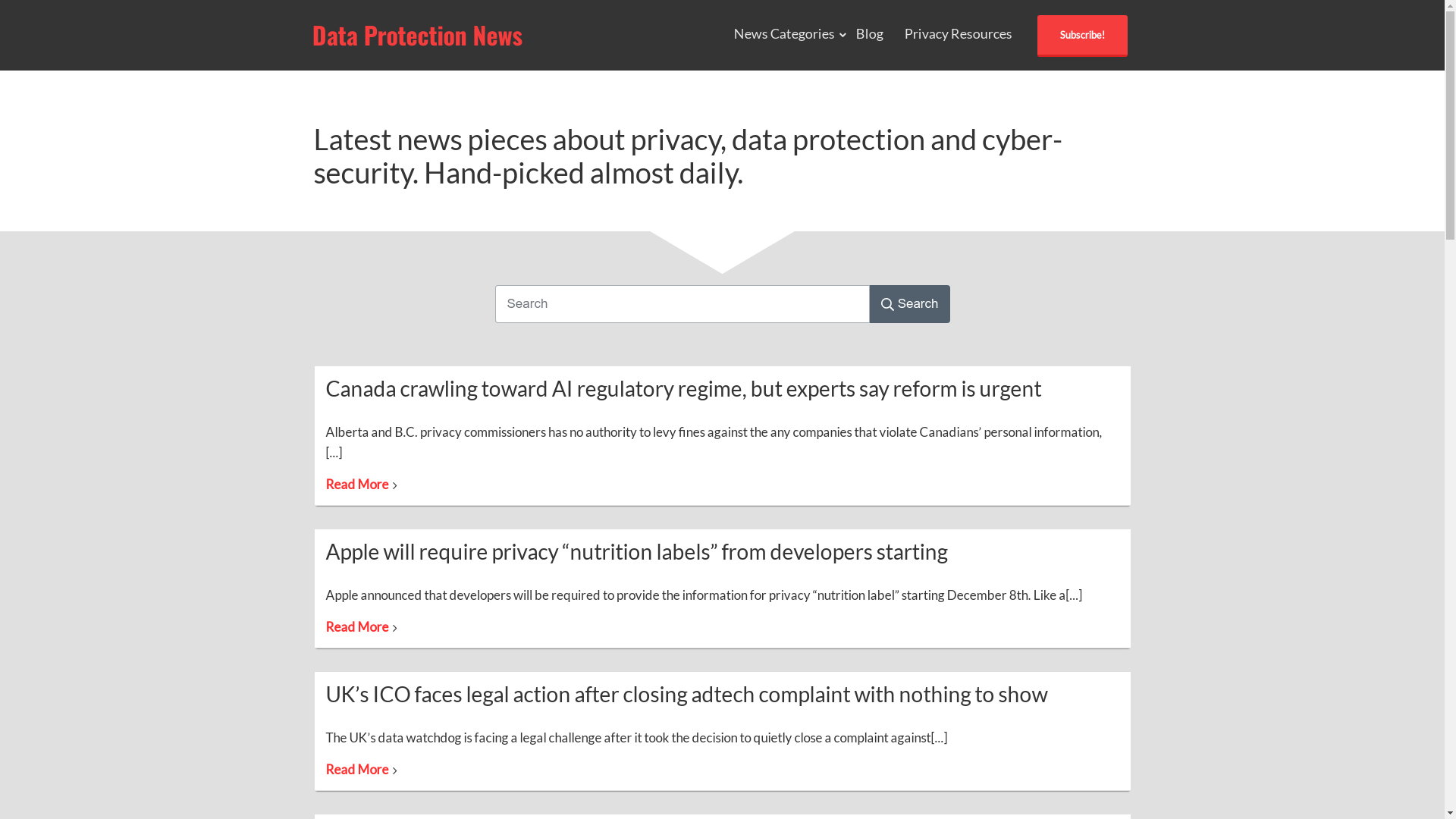 Data protection news