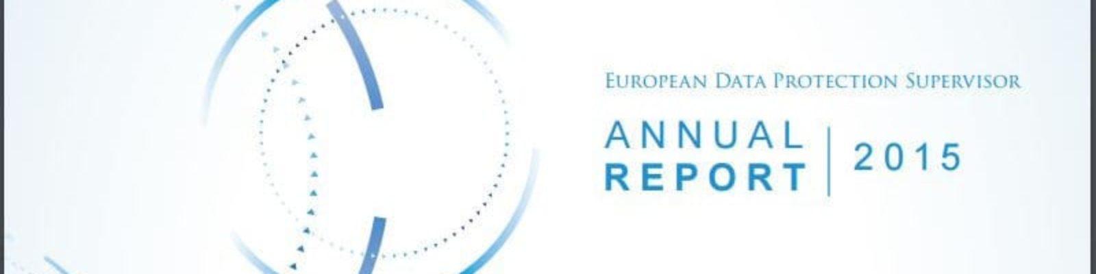 EDPS annual report (2015)
