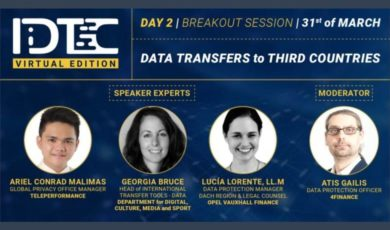 IDTC virtual summit breakout session: Data Transfers to Third Countries